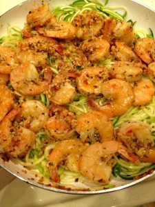 Skinny Shrimp Scampi - Eat-in With YiaYia