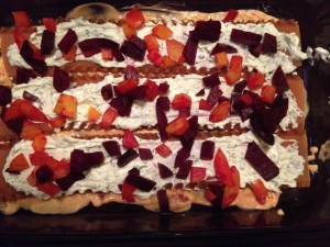 Roast Beet, Goat Cheese & Walnut Lasagna - Eat-in WIth YiaYia